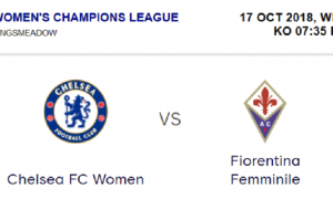 Chelsea Women vs Fiorentina Women